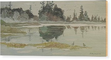 Wood Print featuring the painting Reflection by John  Svenson