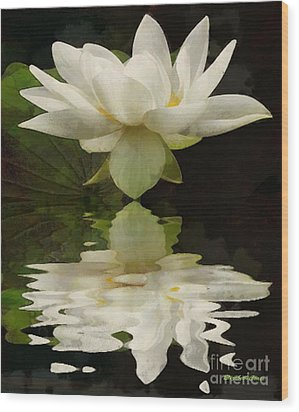 Reflection Of Beauty Wood Print by Elizabeth Coats