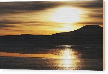 Reflection On Lake Klamath Wood Print
