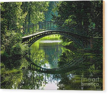 Reflection Paradise Wood Print by Mariola Bitner