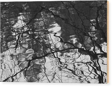 Wood Print featuring the photograph Reflection by Yulia Kazansky