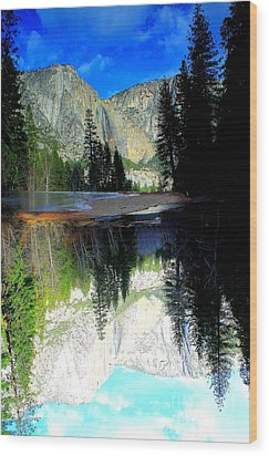 Reflections 1 Yosemite Wood Print