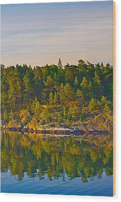 Wood Print featuring the photograph Reflections 2 Sweden by Marianne Campolongo