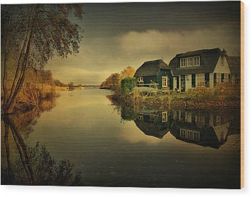 Wood Print featuring the photograph Reflections by Annie Snel