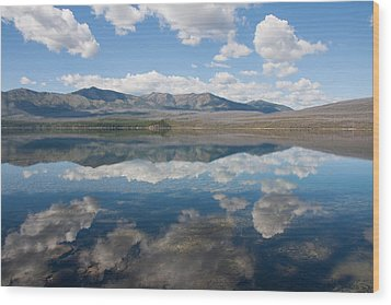 Reflections At Glacier National Park Wood Print