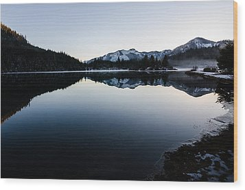 Reflections At Gold Creek Pond Wood Print by Brian Xavier