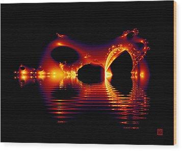 Reflections Wood Print by David Jenkins