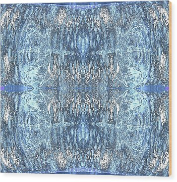 Wood Print featuring the digital art Reflections In Blue by Stephanie Grant