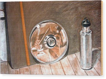 Reflections In Glass And Steel A Still Life Wood Print