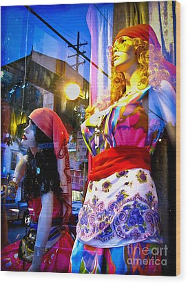 Reflections In The Life Of A Mannequin Wood Print by Colleen Kammerer