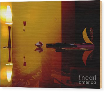 Reflections  Wood Print by James Njuguna