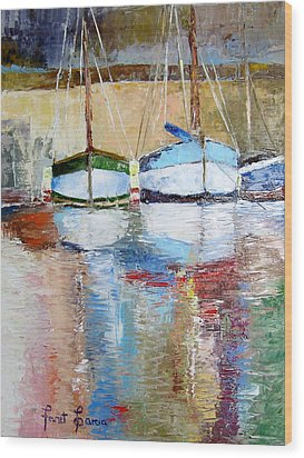 Reflections Wood Print by Janet Garcia