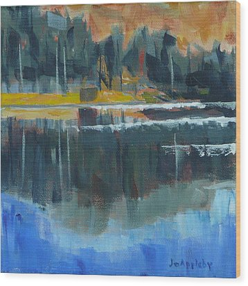 Wood Print featuring the painting Reflections by Jo Appleby