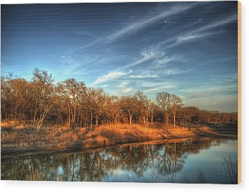 Reflections Wood Print by Kimberly Danner