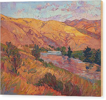 Reflections Of August Wood Print by Erin Hanson