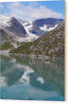 Reflections Of Blue And Green In Alaska Wood Print