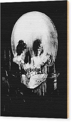 Reflections Of Death After Gilbert Wood Print by Tracey Harrington-Simpson