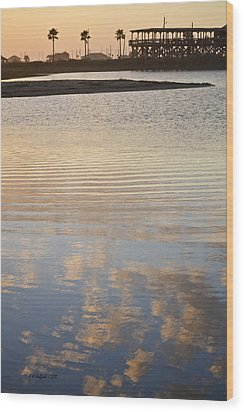 Reflections Of Dusk Wood Print by Allen Sheffield
