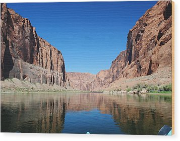 Reflections Of Glen Canyon Wood Print