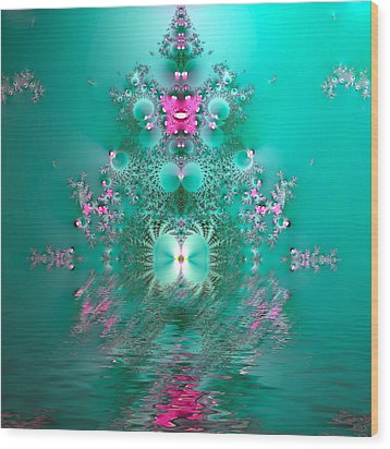 Reflections Of India Wood Print by Sharon Lisa Clarke