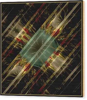 Wood Print featuring the digital art Reflections Of Life by Melissa Messick