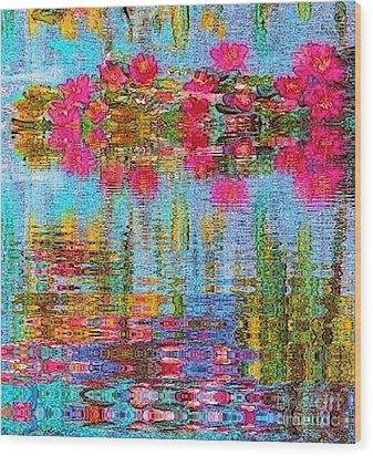 Reflections Of Monet Wood Print