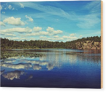 Reflections Of Nature Wood Print by Nicklas Gustafsson