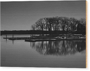 Wood Print featuring the photograph Reflections Of Water by Miguel Winterpacht