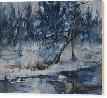 Reflections Of Winter Wood Print by Xueling Zou