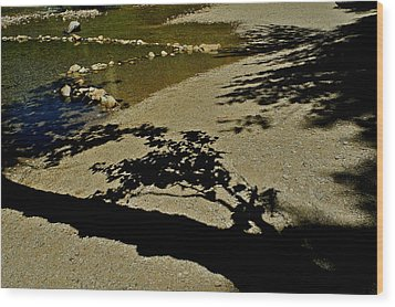 Reflections On A River Wood Print by Kirsten Giving