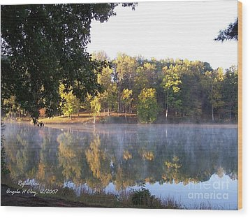 Reflections On Lake Lanier Wood Print