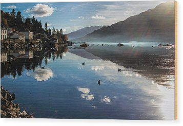 Reflections On Loch Goil Scotland Wood Print