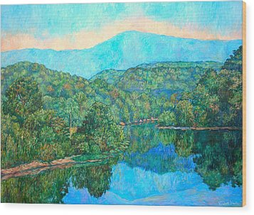 Reflections On The James River Wood Print by Kendall Kessler