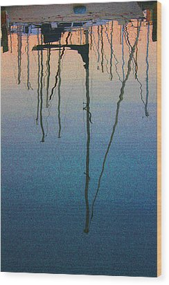 Reflections Wood Print by Robin Lewis