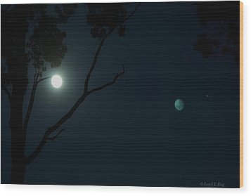 Reflections Wood Print by Russell  King