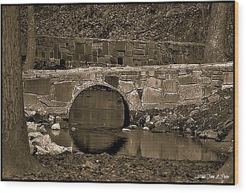 Wood Print featuring the photograph Reflective Bridge by Tara Potts
