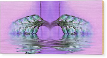 Reflective Consciousness Wood Print by WB Johnston