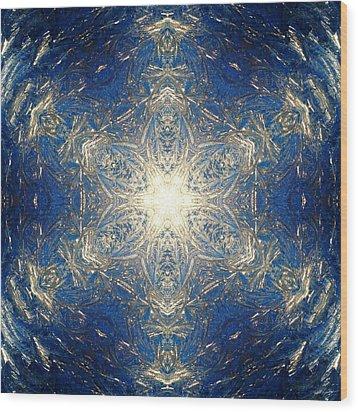 Reflective Ice I Wood Print by Derek Gedney