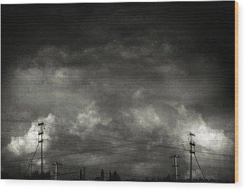 Refraction Wood Print by Taylan Apukovska