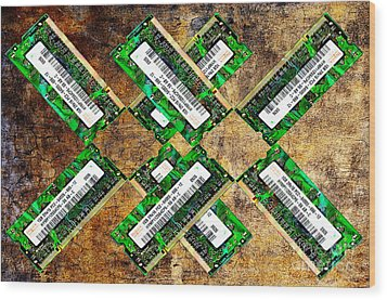 Refresh My Memory - Computer Memory Cards - Electronics - Abstract Wood Print by Andee Design
