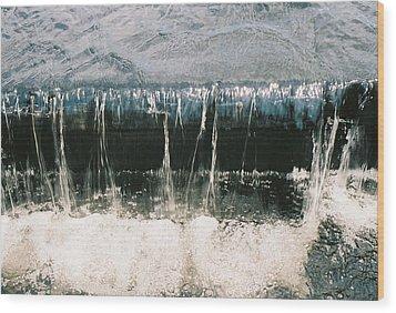 Wood Print featuring the photograph Refreshing Waterfall by Ramona Whiteaker