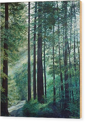 Refuge Wood Print by Kathleen McDermott