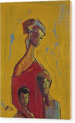 Refugee Red Wood Print