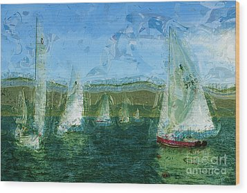 Wood Print featuring the photograph Regatta Day by Julie Lueders