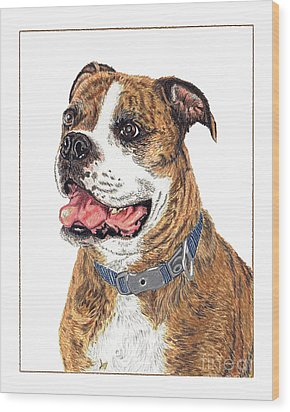 Wood Print featuring the painting Reggie by Val Miller
