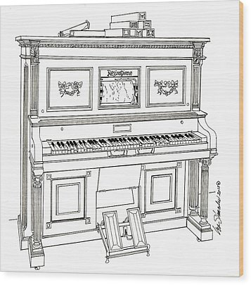Regina Player Piano Wood Print by Ira Shander