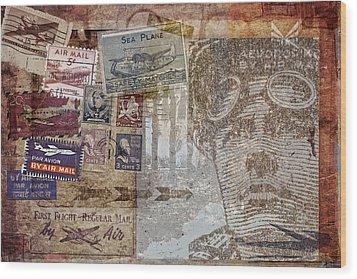 Regular Mail By Air Wood Print by Carol Leigh