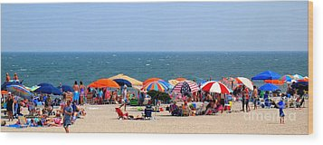 Rehobath Beach Delaware Wood Print by Patti Whitten