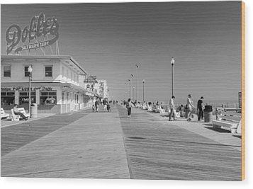 Rehoboth Beach Boardwalk Wood Print
