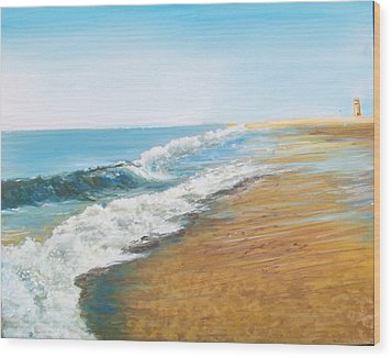 Rehoboth Beach Sunrise Wood Print